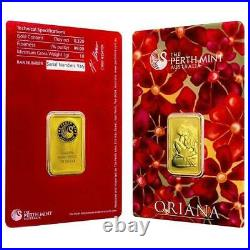 10 Gram Gold Bar Perth Mint Oriana Series 999 Carded Sealed 10g Trusted