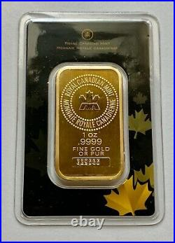 1 Oz Gold Bar Royal Canadian Mint (old Style, Sealed In Assay Card) #339565