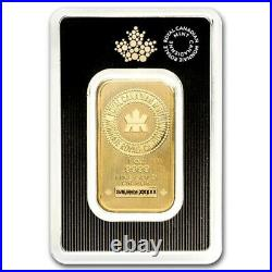 1 oz Gold Bar Royal Canadian Mint (New Style, In Assay)