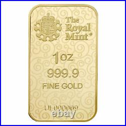 1 oz Gold Bar The Royal Mint Una and the Lion SKU#229179