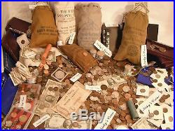 40 Pc. Estate Lot- Coins, Currency, Silver Bars, Gold, Proofs, Stamps, Etc