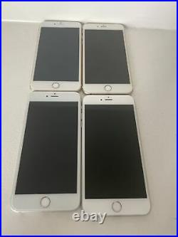 4x Lot Apple iPhone 6 Plus 128GB Gold Silver (AT&T) A1522 (GSM) Lot 5C