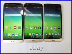 AS IS LOT OF 3- LG G5 H830 32GB- Gold T-Mobile Unlocked Various Issues 102