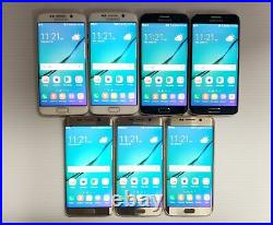 AS IS LOT OF 7 Samsung Galaxy S6 edge G925T T-Mobile Unlocked Black White Gold