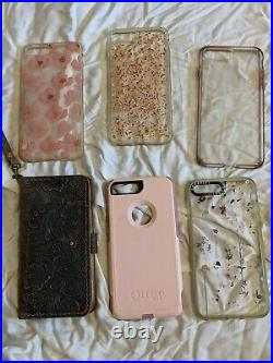 Apple iPhone 7 plus 256GB Rose Gold (AT&T) with phone case lot Lightly Used