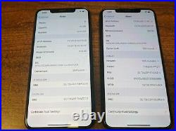 Apple iPhone XS Max 64GB Gold (T-Mobile) A1921 (CDMA + GSM) lot of 2