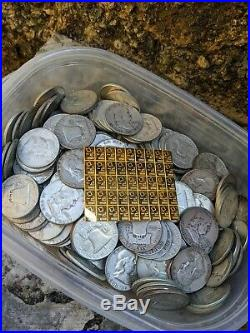 Gold and Silver Lot 1g Valcambi Gold Bar & 1oz of Rare US 90% Silver Coinage