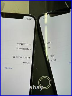 Lot Of 2 Apple iPhone 12 Pro Max IC LOCKED As Is Check imei L@@k