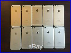 Lot of 10 Apple iPhone 6 64GB Silver + Gold (Unlocked) A1549
