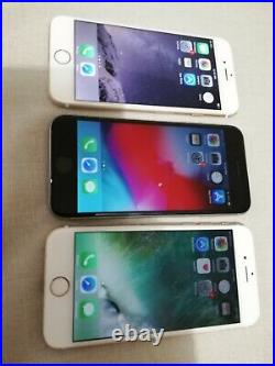 Lot of 3 Apple iPhone 6 and 6s (ic locked)
