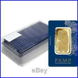 Lot of 5 100 gram Gold Bar PAMP Suisse Lady Fortuna Veriscan (In Assay)