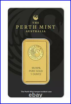 Lot of THREE (3 oz Total) 1 Ounce Gold Bars Perth Mint 99.99% Fine in Assay