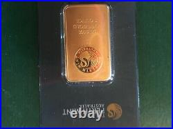 One Troy Once 99.99 pure gold in assey card #259186, from Perth Mint Australia